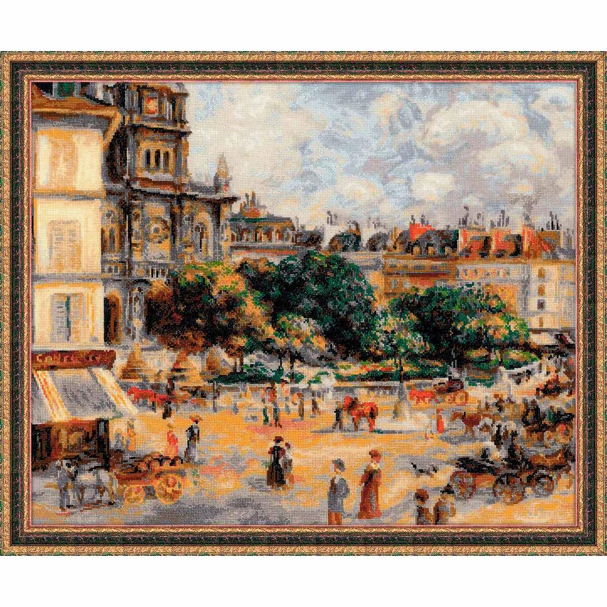 1396 Набор для вышивания Riolis по мотивам картины Пьера Огюста Ренуара 'Площадь Троицы. Париж', 60*50 см