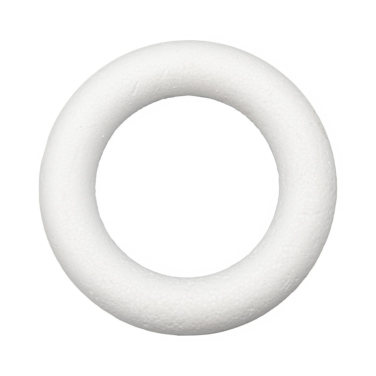 Заготовка для декорирования из пенопласта 'Венок плоский', d 12,5см