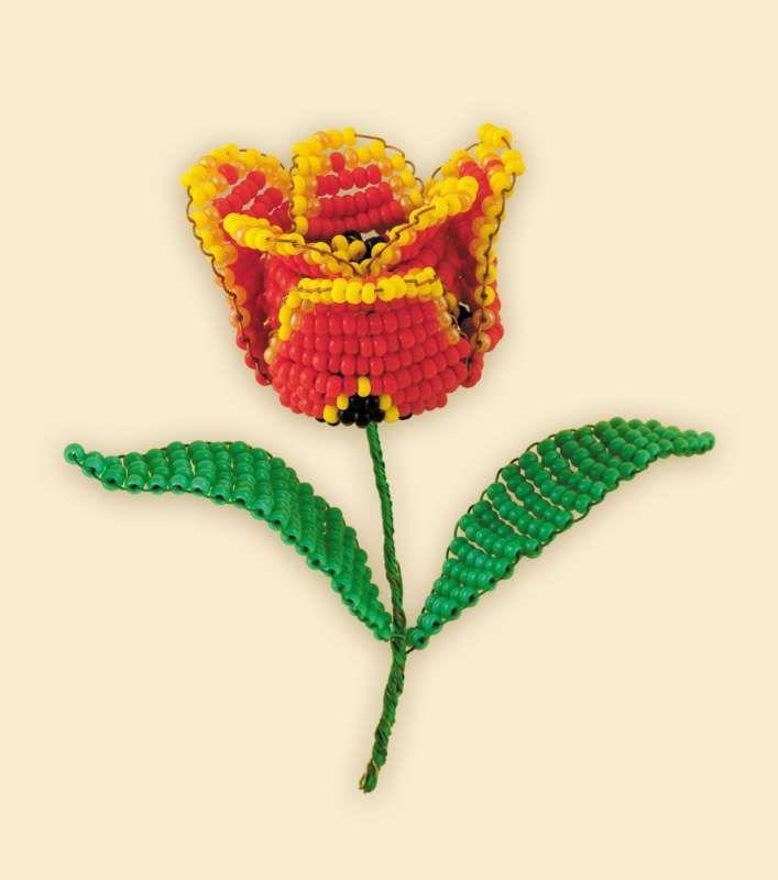 Б182 Набор для бисероплетения Riolis 'Тюльпан', 5,5*8 см