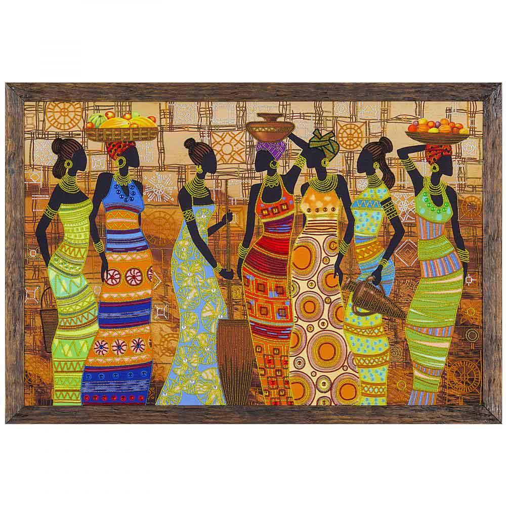 ДК1038 Набор для вышивания бисером 'Нова Слобода' 'Африканские красавицы', 76x50 см