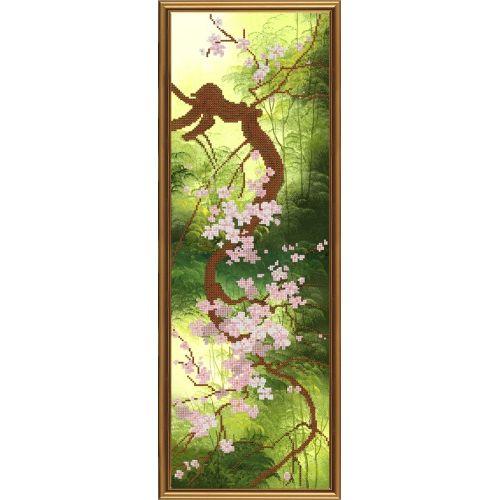 НД6054 Набор для вышивания бисером 'Нова Слобода' 'Цветущая сакура', 20x60 см