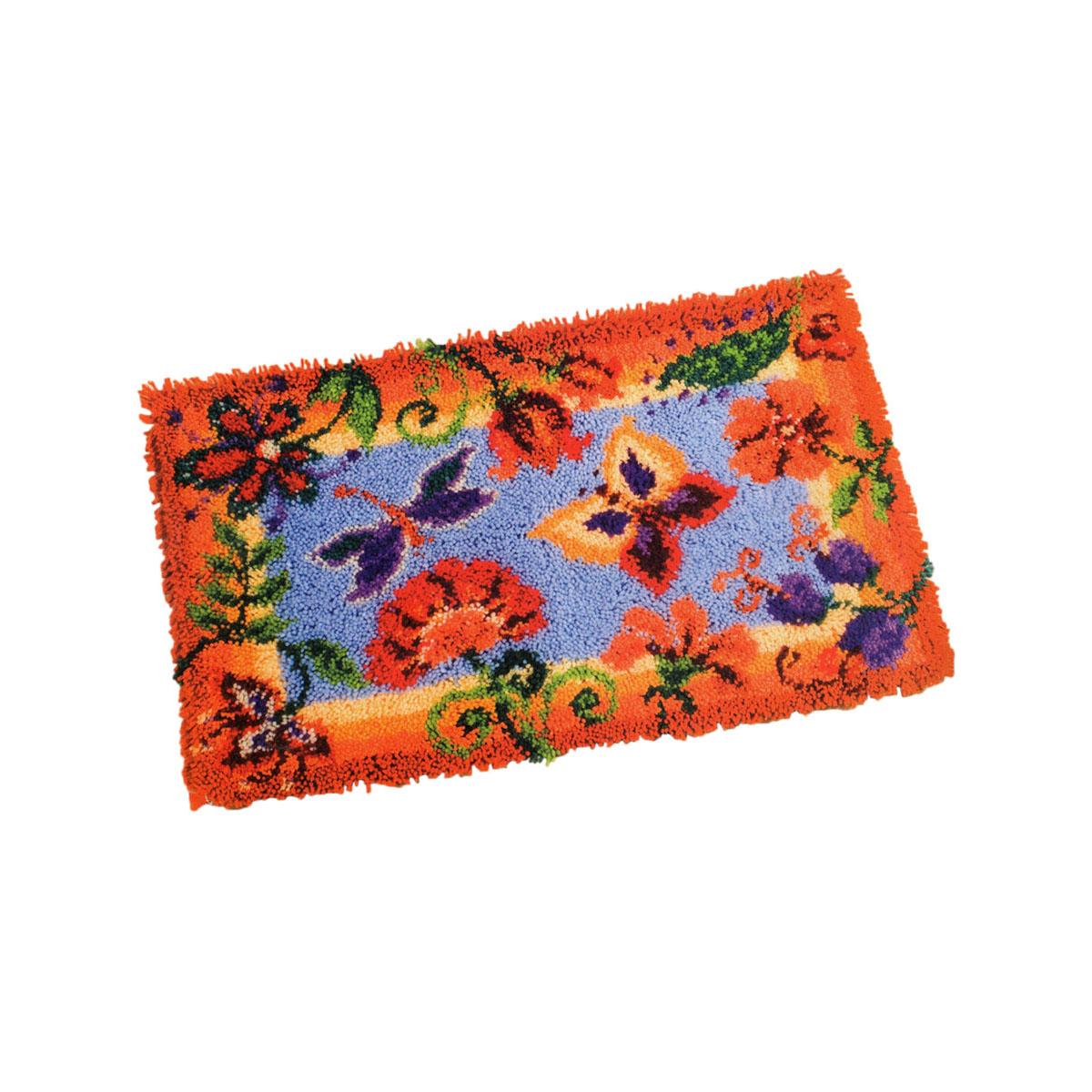 0145323-PN Коврик (ковровая техника) Vervaco 'Декоративные цветы' 65x40 см