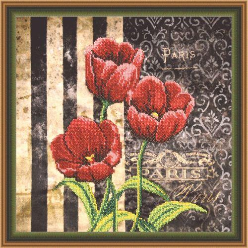007-РТ Набор для вышивания (Красные тюльпаны) ОВЕН