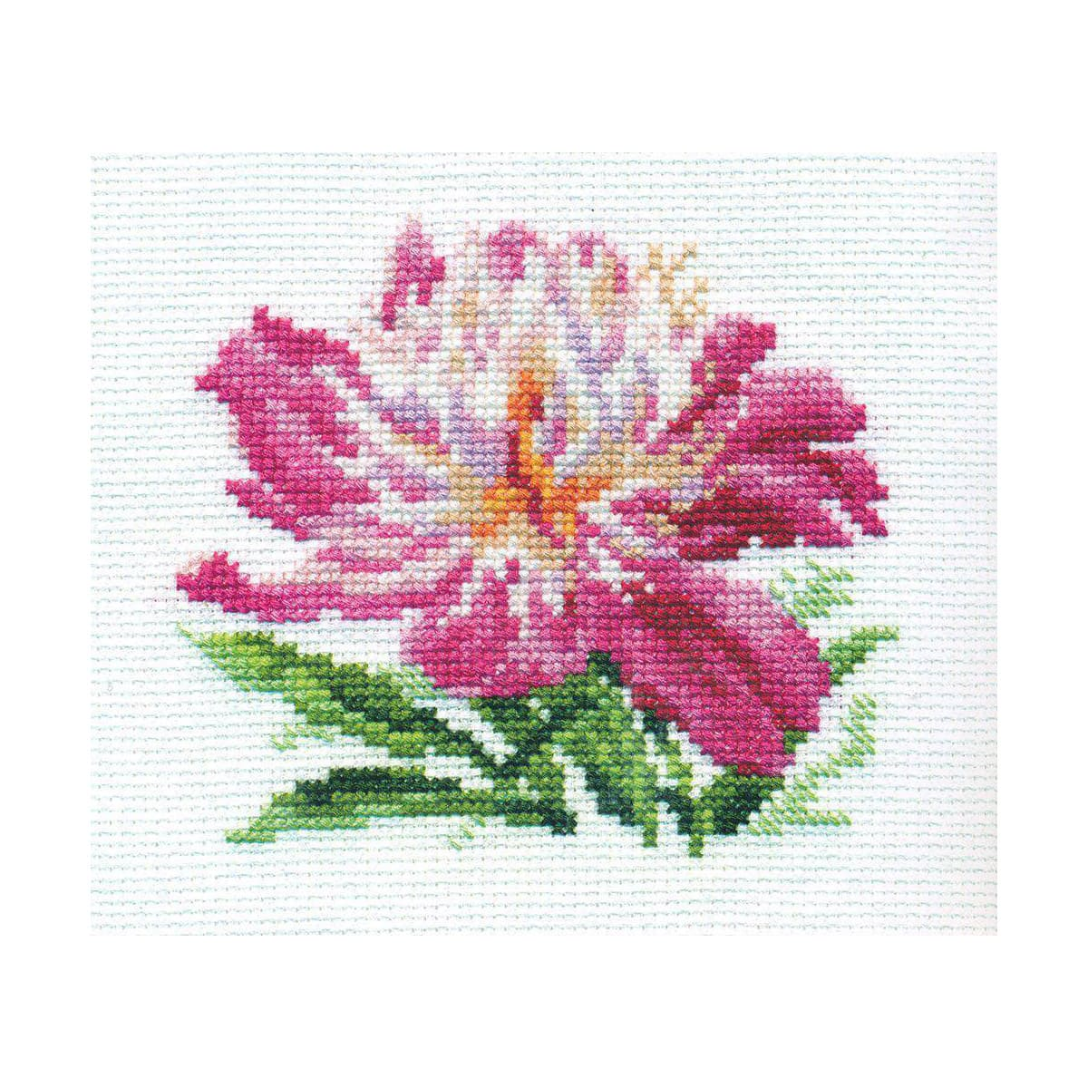0-119 Набор для вышивания 'Алиса' 'Розовый пион', 10*11 см