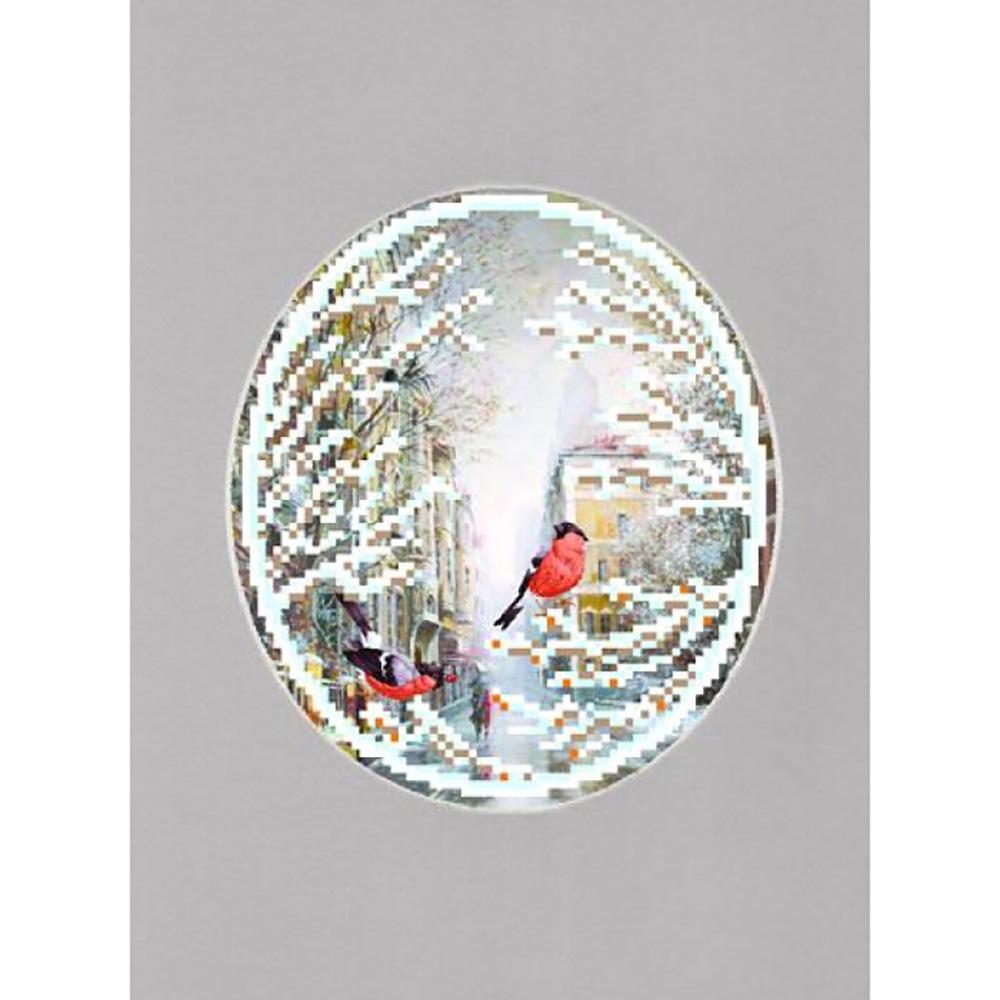 100/БП Наборы для вышивания с бисером и паспарту 'Матренин посад' 'Гагаринский переулок', 20,5*30,5 см