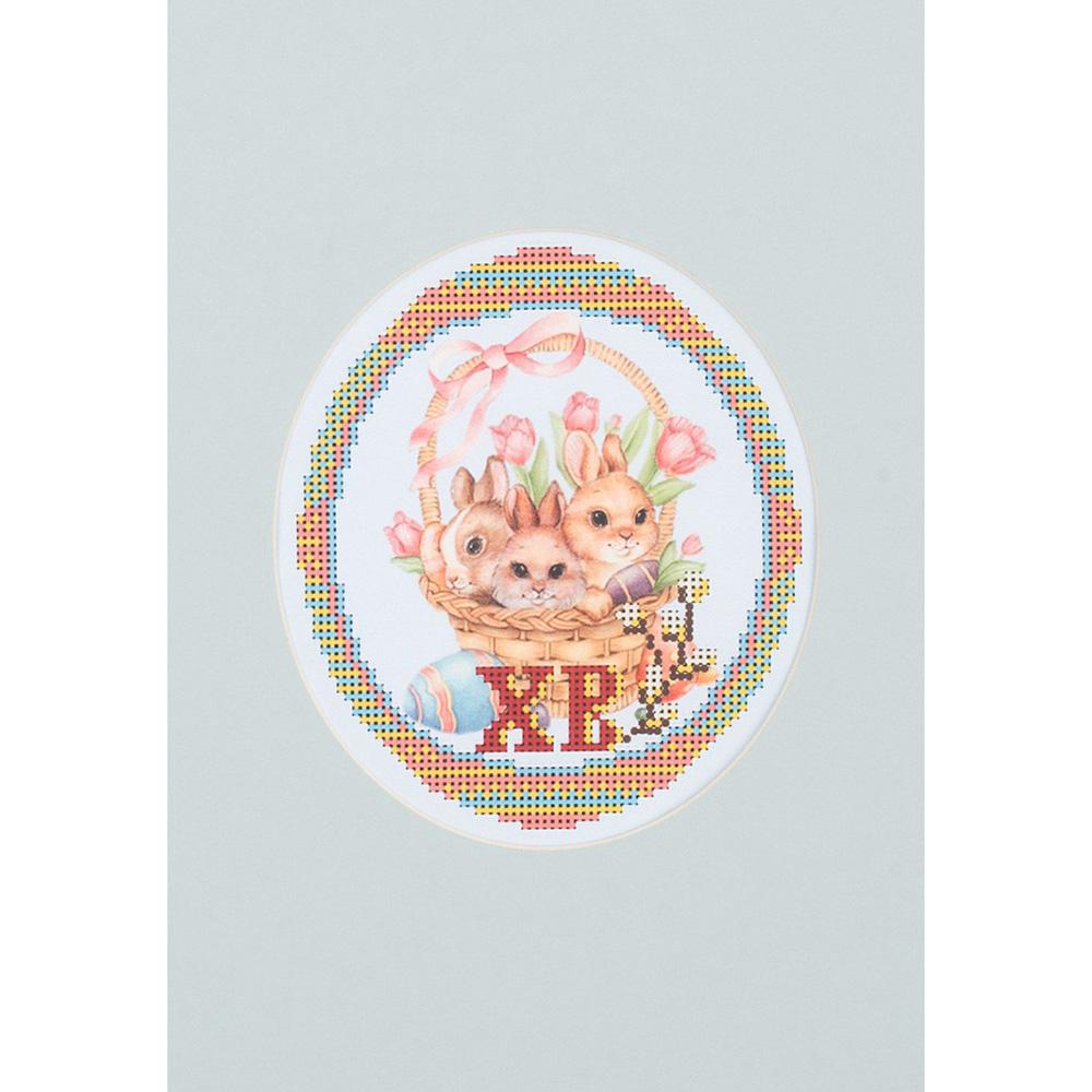 104/БП Наборы для вышивания с бисером и паспарту 'Матренин посад' 'Зайчата', 20,5*30,5 см