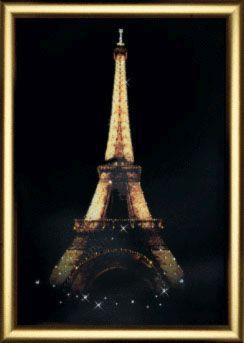 КС099 Набор для изготовления картины со стразами 'Эйфелева башня'