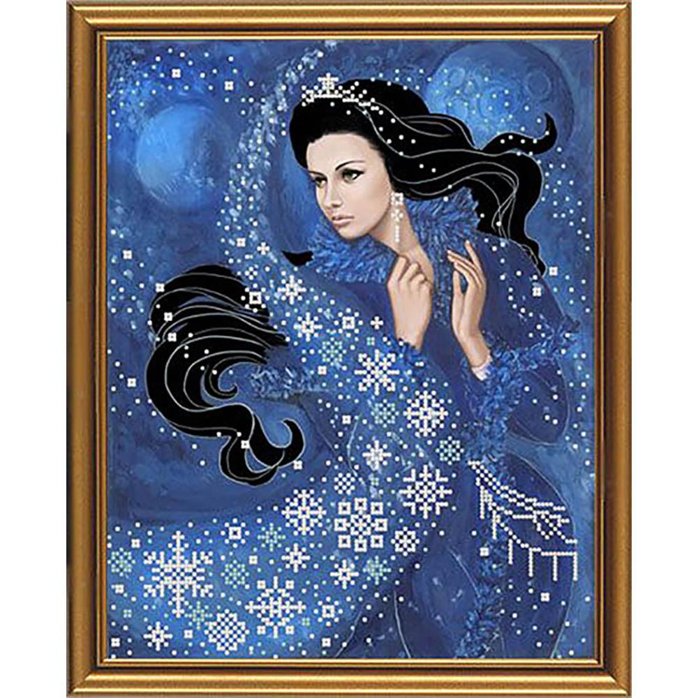 НД3055 Набор для вышивания бисером 'Нова Слобода' 'Зимняя ночь', 26x33 см