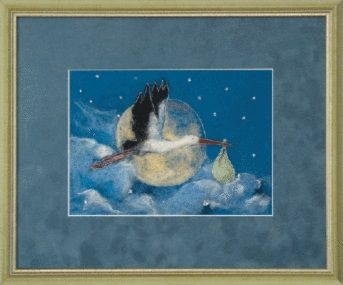 В-118 Набор для валяния картины 'Новая жизнь' 19,5*14см Чарівна мить