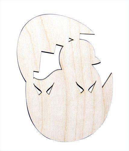 Деревянная заготовка Цыпленок в яйце 15см (L-103) Астра