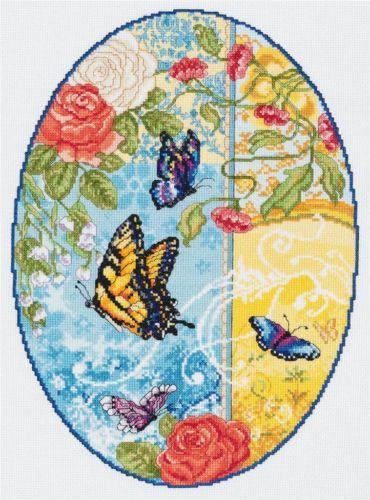 023-0592 Набор д/вышивания JANLYNN 'Butterfly Fantasy' 25,4*35,6 см