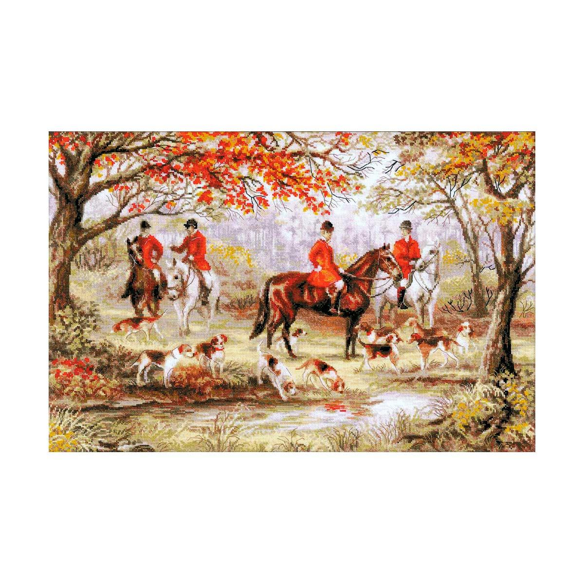 1431 Набор для вышивания Riolis 'Охота на лис', 60*40 см