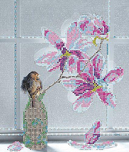 В1139 Канва с рисунком Alisena 'В ожидании весны', 20*24 см