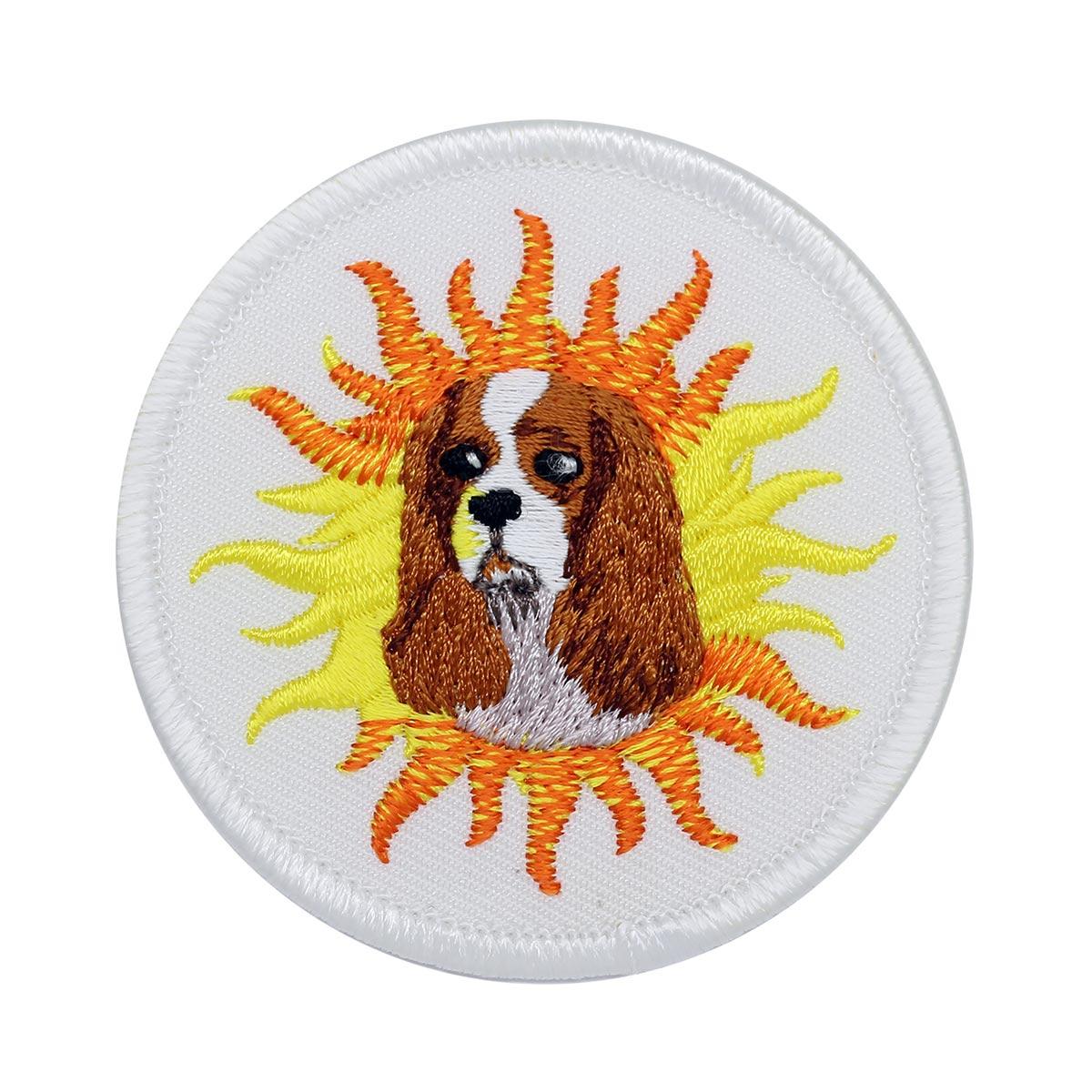 AD1010 Термоаппликация 'Солнечный пёс', d 6 см, Hobby&Pro