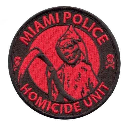 AD1018Термоаппликация 'Полиция Майами', d 8 см, Hobby&Pro