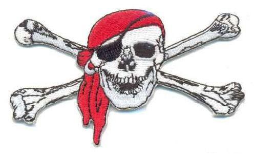 AD1023 Термоаппликация 'Череп пирата', 4*8,5 см, Hobby&Pro