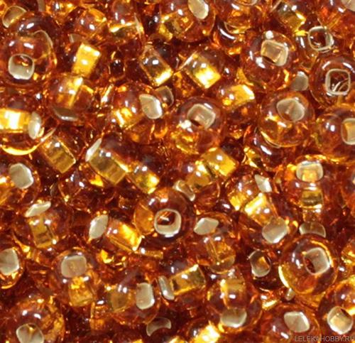 Бисер прозрачный с сереб. центр. 10/0 (17070), кв. отв., 50г Preciosa