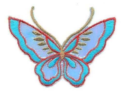 Термоаппликация LMB-16 'бабочка большая' (12шт)
