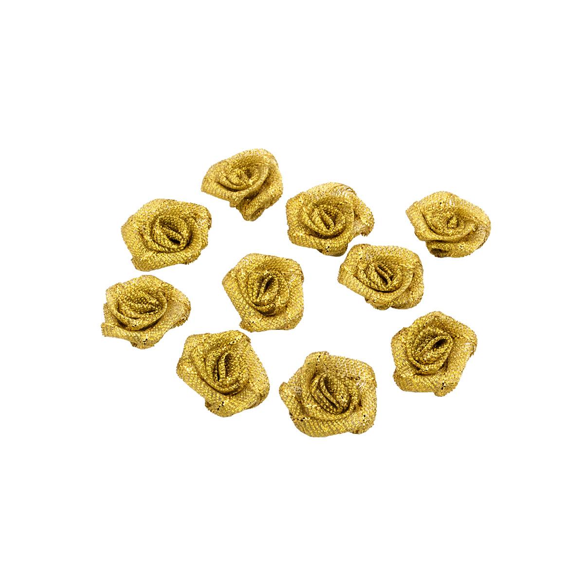 Цветы пришивные люрекс 7700223