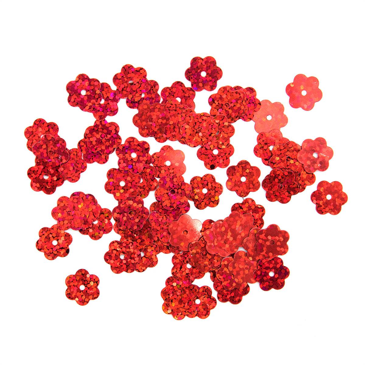 Пайетки 'цветочки', 10 мм, упак./10 гр., 'Астра'