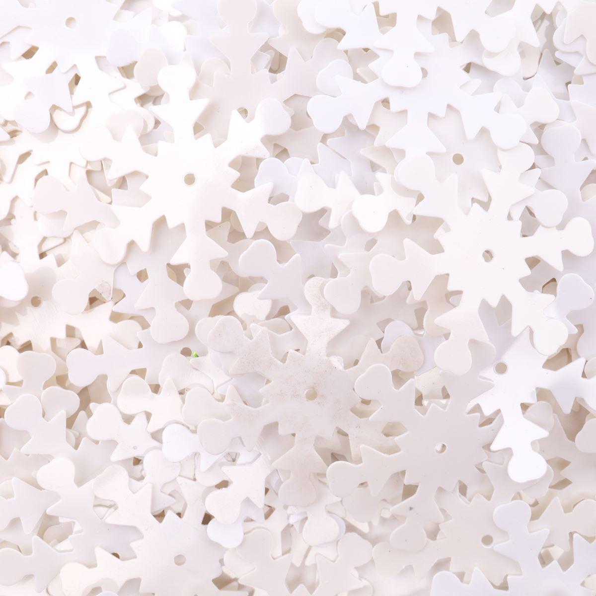 Пайетки 'снежинки', 24 мм, упак./10 гр., 'Астра'