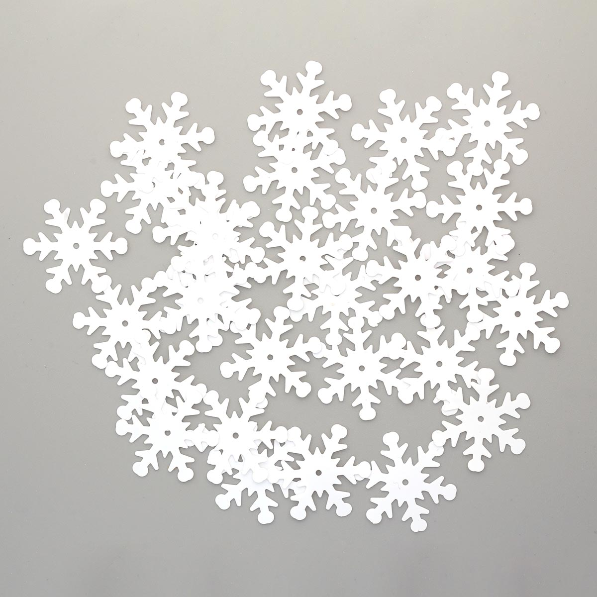 Пайетки 'снежинки', 24 мм, упак./10 гр., 'Астра' (L010 белый матовый) фото