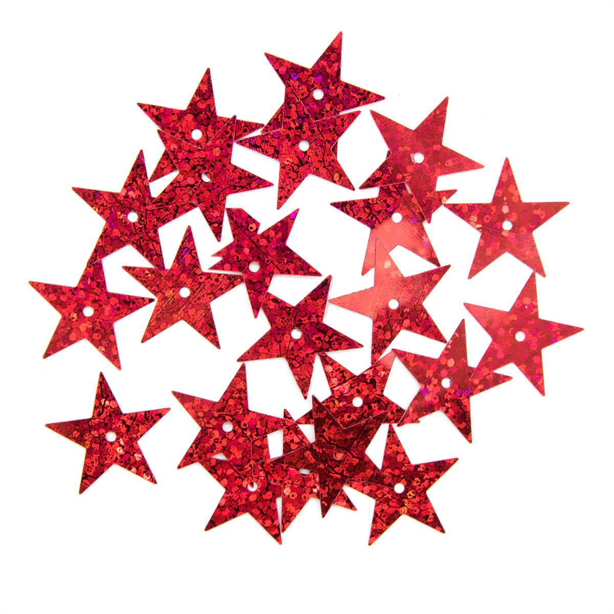 Пайетки 'звездочки', 20 мм, упак./10 гр., 'Астра'