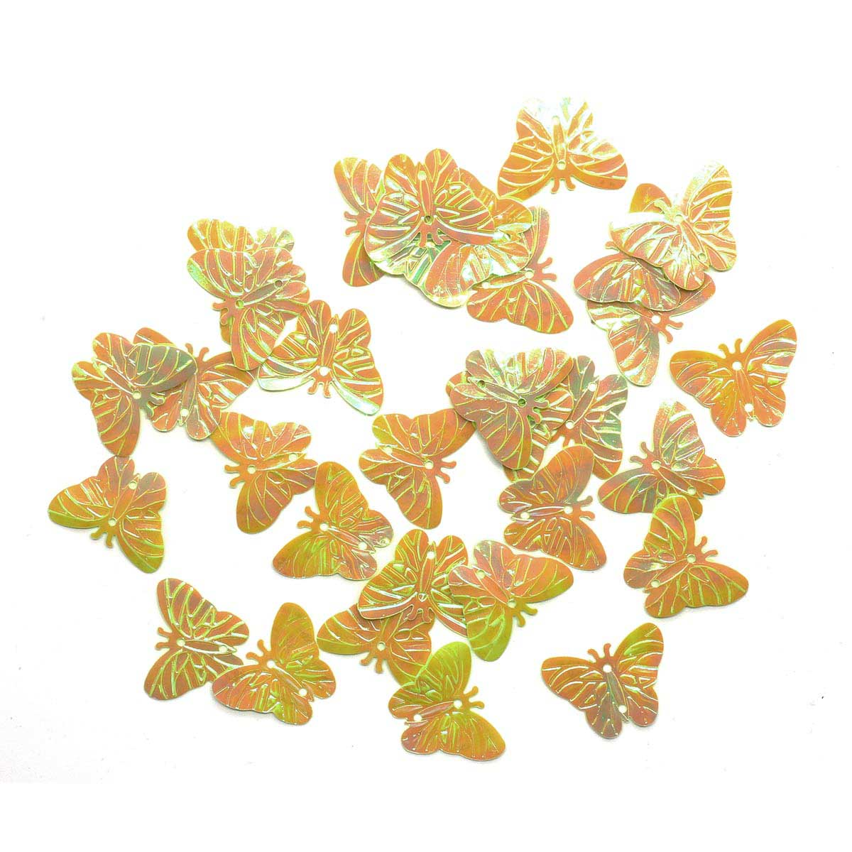 Пайетки 'бабочки', 18*23 мм, упак./10 гр., 'Астра' (85 салатовый) фото