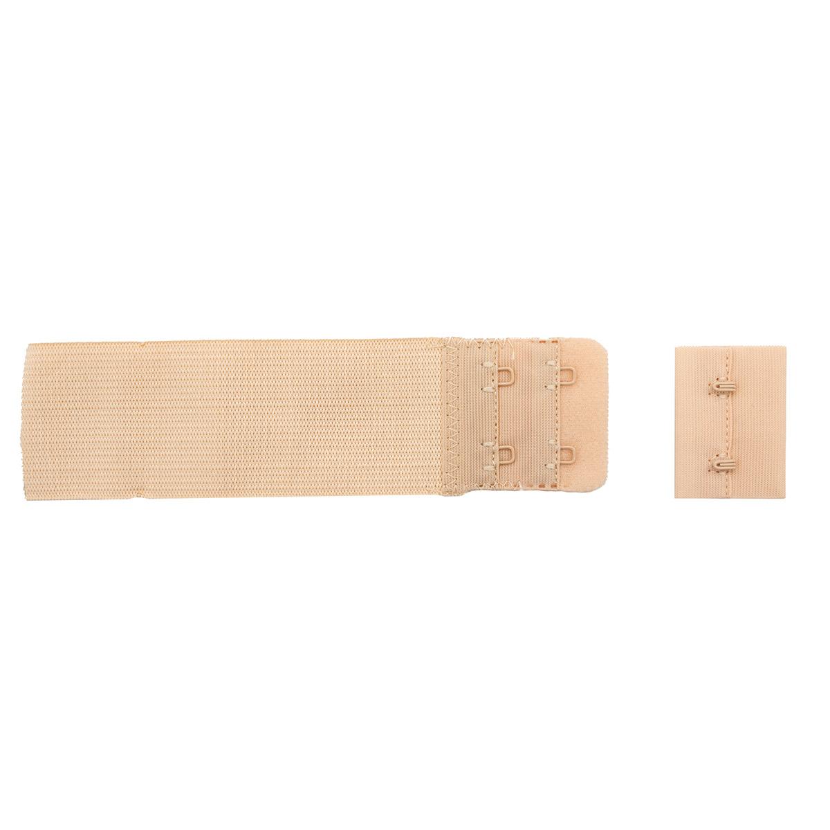 852103 Застежка для бюстгальтера, телесный, 38 мм, 2 крючка, Hobby&Pro