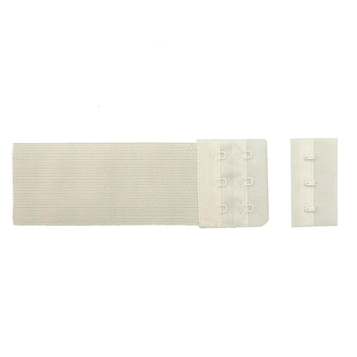 853102 Застежка для бюстгальтера, белый, 50 мм, 3 крючка, Hobby&Pro