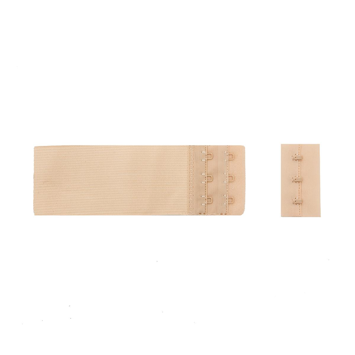 853103 Застежка для бюстгальтера, телесный, 50 мм, 3 крючка, Hobby&Pro