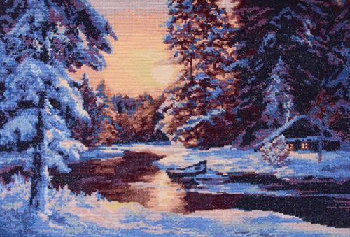 0004 Набор для вышивания Nitex 'Зимний вечер', 48х34 см