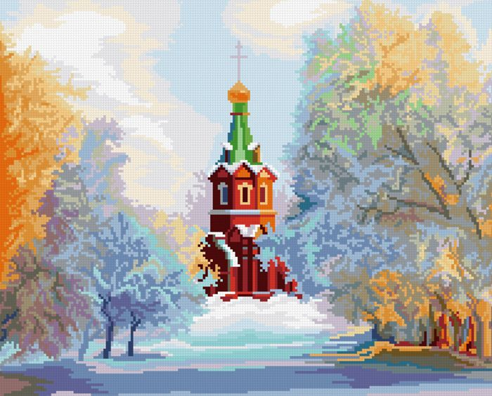0052 Набор для вышивания'Свято-Никольский Храм' 36х29,5 см