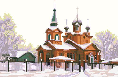 0053 Набор для вышивания Nitex 'Храм Святого Александра Невского', 41х27 см