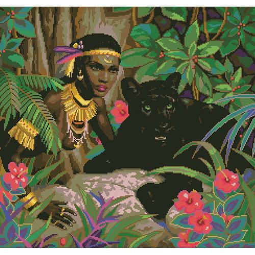 0060 Набор для вышивания'Черная пантера' 45х43 см