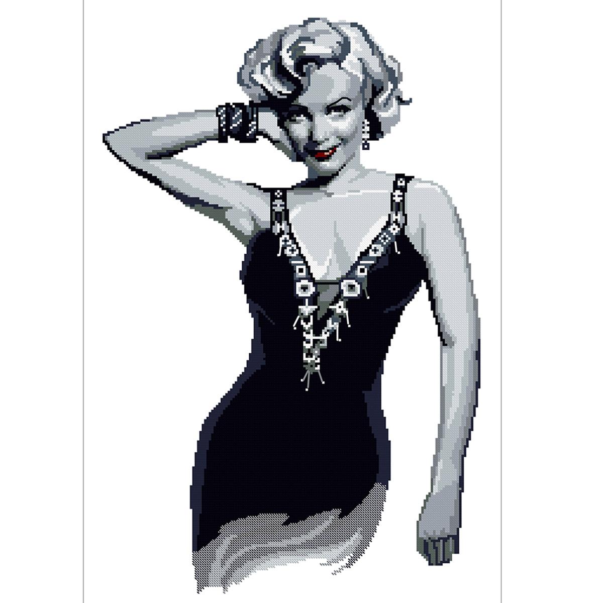 0077 Набор для вышивания Nitex 'Мэрлин Монро', 29*44 см