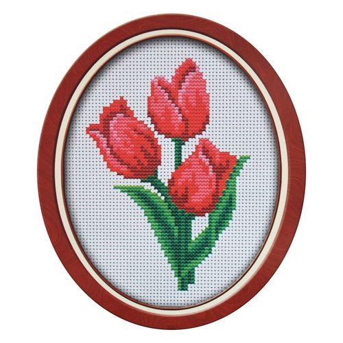 019 Набор для вышивания Lutars 'Тюльпаны', 11х16 см