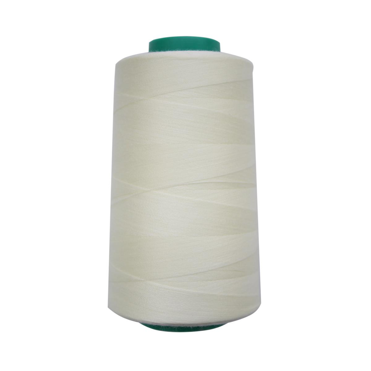 Универсальная швейная нить, 50/2, 5000 ярд, 100% пэ, Bestex (002 бело-желтый) фото