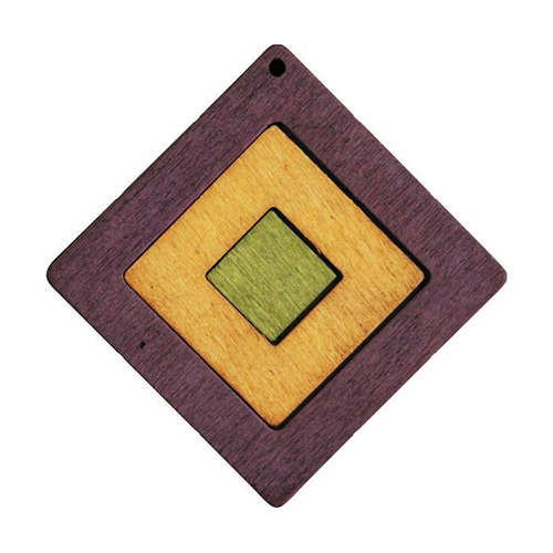 Декоративная деревянная подвеска юла, 51 мм, 'Астра'