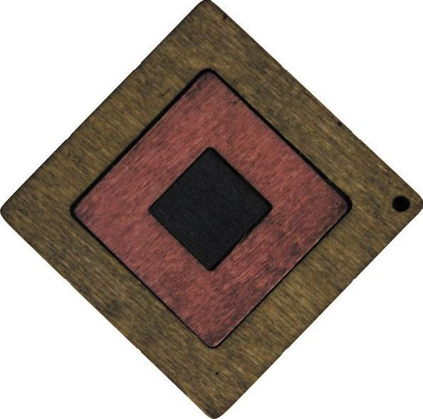 Декоративная деревянная подвеска юла, 51 мм, 'Астра' (2163-04)