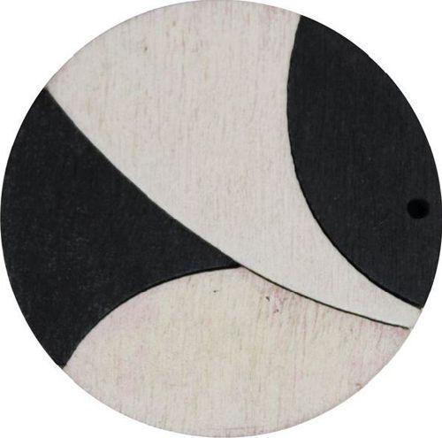 Декоративная деревянная подвеска круг, 37 мм, 'Астра' (2165-04)
