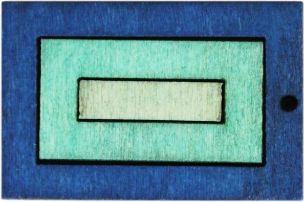 Декоративная деревянная подвеска прямоугольник, 41*28 мм, 'Астра'