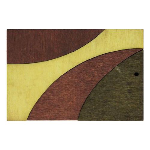Декоративная деревянная подвеска прямоугольник, 61*44 мм, 'Астра' (2172-04)
