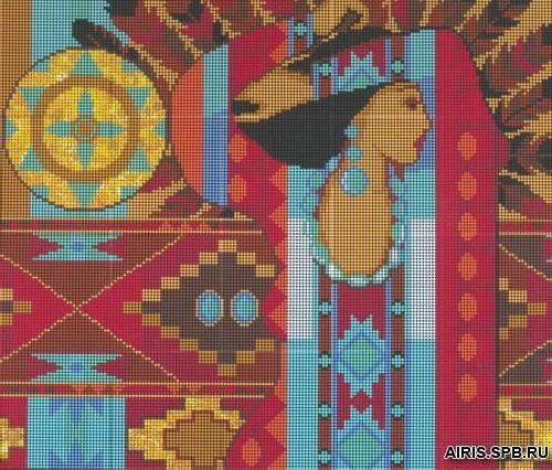 3008 Индейский ковер 32,5х28 см