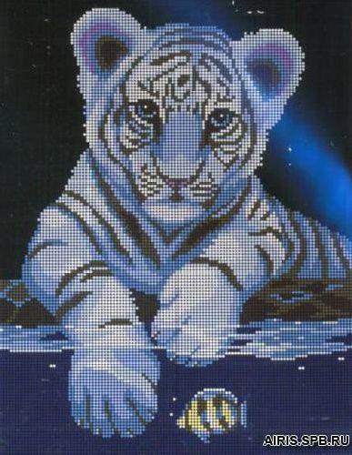 3015 Белый тигренок 21,5х28