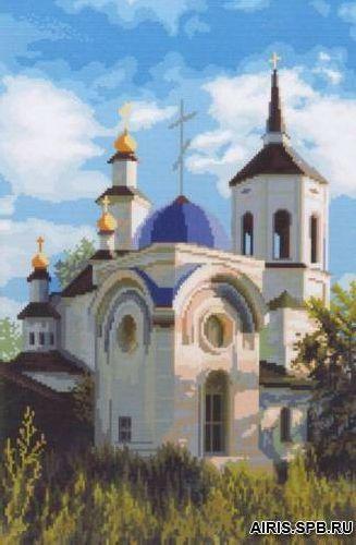3025 Казанский Храм Богородице-Алексеевского мужского монастыря 27х41 см