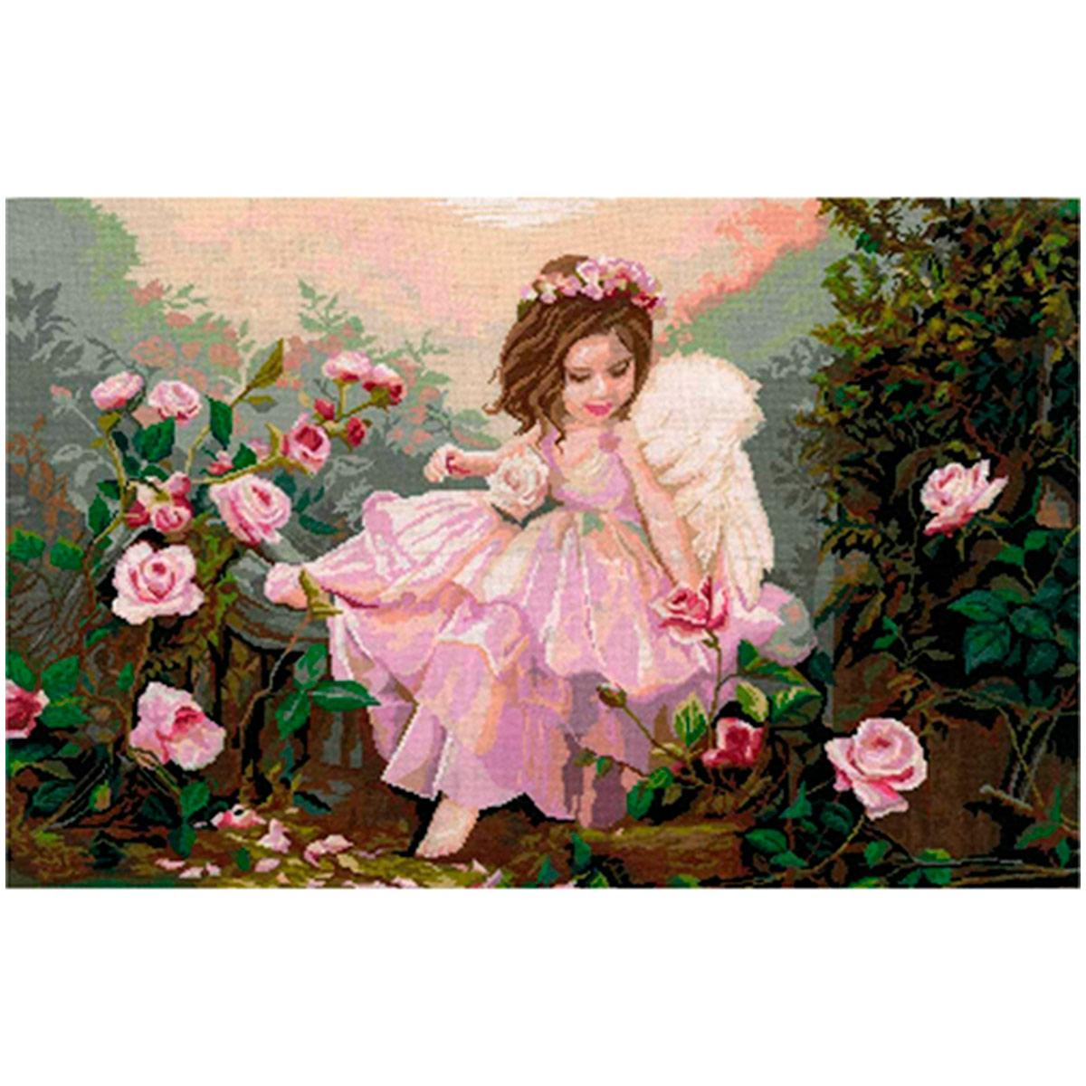 0118 Набор для вышивания Nitex 'Ангел', 59х36 см