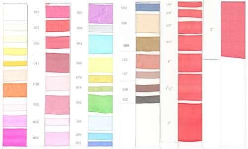 Карта цветов лента капроновая