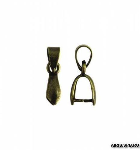 HA00294 Держатель для кулона, 10*6 мм, упак./10 шт., 'Астра' (латунь состаренная)