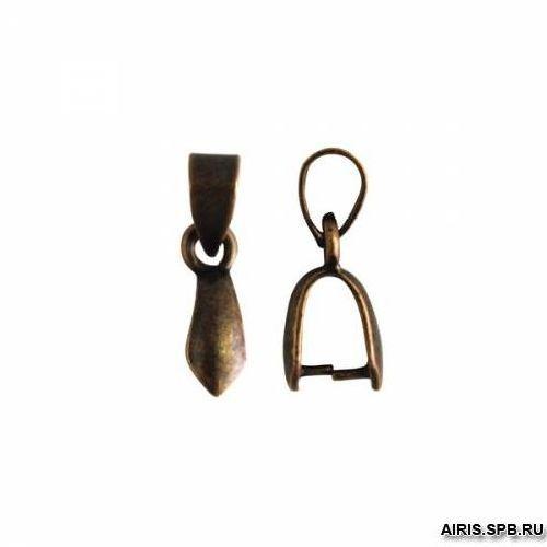 HA00294 Держатель для кулона, 10*6 мм, упак./10 шт., 'Астра' (медь состаренная)